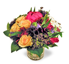 French tulip flowers noe valley san francisco a pretty spring bouquet of peonies peach roses blue hyacinths fragrant freesias and black berries mixed with red alstroemeria which traditionally mightylinksfo